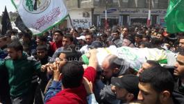 جماهير رفح تشيع جثمان الشهيد عبدالله الشمالي