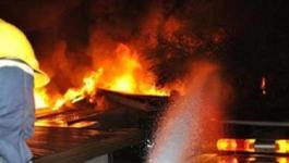 نشوب حريقداخل عمارة سكنيه في حي النصر وسط مدينة غزة.jpg