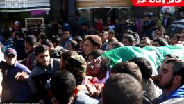 بالفيديو والصور: جماهير غفيرة تشيع جثامين 4 أشهداء ارتقوا خلال المواجهات الحدودية