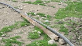 مصادرة خطوط مياه