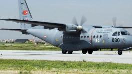 مقتل ثلاثة أشخاص بتحطم طائرة نقل عسكرية تركية.jpg