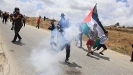 الاحتلال يقمع مسيرة كفر قدوم الأسبوعية ويصيب متضامنًا أجنبيًا
