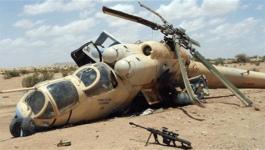 سقوط طائرة هليوكبتر