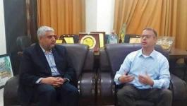 بالصور: معروف يستقبل رئيس رابطة الصحفيين الدوليين بالأراضي الفلسطينية