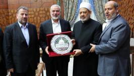 تفاصيل لقاء وفد حماس برئاسة هنية مع شيخ الازهر احمد الطيب