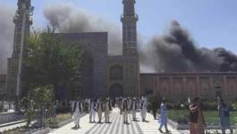 قتل اليوم الأحد، 10 أشخاص وأصيب 29 آخرون، إثر تفجير استهدف مسجدا بإقليم خوست شرق أفغانستان.  وأفاد مسؤول في الشرطة المحلية بمقتل 10 أشخاص على الأقل وإصابة 29 جراء تفجير استهدف مسجدا بإقليم خوست شرق أفغانستان.     وأوضح بصير بينا المتحدث باسم الشرطة المحلي