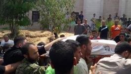 بالفيديو والصور: شهيدان من كتائب القسام إثر قصف إسرائيلي شمال القطاع
