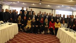 المعهد القضائي يستضيف وفداً حقوقيا تركياً وأعضاء من الاتحاد الدولي للحقوقيين.JPG