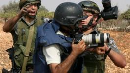 تقرير يرصد الانتهاكات الإسرائيلية بحق الصحفيين خلال تشرين التاني الماضي
