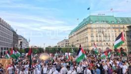 بالصور: مهرجان حاشد للجالية الفلسطينية في برلين نصرةً للأقصى