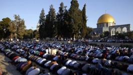 الاحتلال يُعيد فتح أبواب المسجد الأقصى والمئات يؤدون صلاة الفجر فيه.jpg