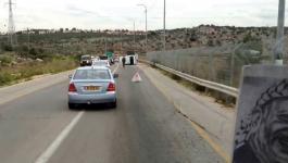 مستوطنان أصيبا إثر حادث سير بقلقيلية يرفضان إسعاف الهلال الأحمر الفلسطيني لهما.jpg