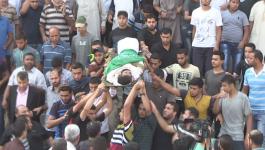 بالفيديو: جماهير غزّة تُشيّع 7 شهداء ارتقوا في جمعة