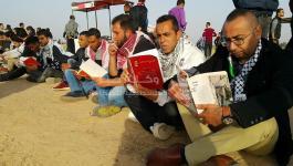 بالصور: سلسلة قراء في مخيم العودة على حدود
