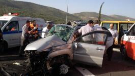 187إصابة بـ240 حادث سير بالضفة خلال أسبوع.jpg