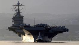 سُفن إيرانية تُطلق صواريخ صوب حاملة طائرات أمريكية دخلت مياه الخليج