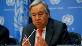 الأمين العام للأمم المتحدة: جهود حثيثة لاحتواء الوضع في غزة.
