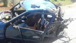 إصابة مواطن بانقلاب مركبته أثناء مطاردة شرطة الاحتلال له في بيت لحم