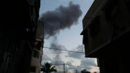 محدث بالفيديو والصور: طائرات الاحتلال تشن سلسلة غارات على مواقع للمقاومة في المحافظة الوسطى