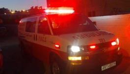 إصابة شابين بجراح إثر حادث سير بين دراجة نارية ومركبة على مدخل دير البلح
