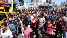 بالفيديو والصور: جماهير رفح تُشيّع جثمان شهيد جمعة