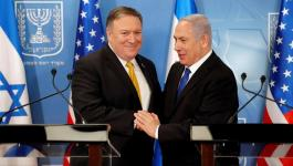 نتنياهو ووزير الخارجية الامريكي