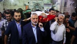بالصور: جماهير غزة تشيع القائد القسامي محمد حسان