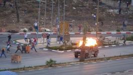 إصابة 3 مواطنين جراء قمع الاحتلال مسيرة دعماً للأسرى على مدخل البيرة.jpeg