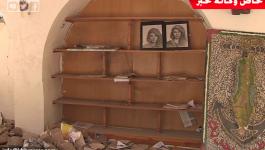 بالفيديو: صواريخ الاحتلال تُطارد معارض الفن والتراث الفلسطيني بغزة