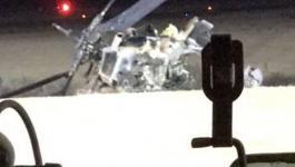 مصرع طيار إسرائيلي وإصابة آخر إثر تحطم مروحية