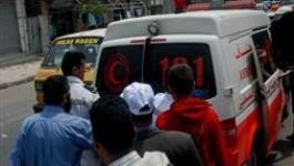 إصابة عنصر أمن في حادث سير جنوب غزة.jpg