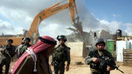 الاحتلال يعدم مسكنًا في الأغوار