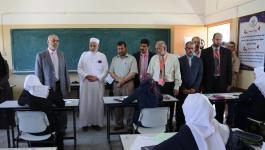 التعليم بغزة يُشيد بانتظام سير امتحانات الثانوية العامة