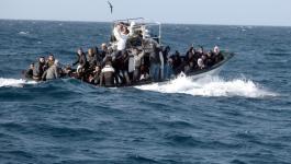 مصرع 23 مهاجرًا جراء غرق قاربهم في البحر المتوسط.jpg