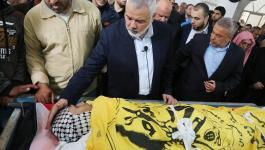 جماهير غزة تشيع جثمان الشهيد الصياد أبو ريالة