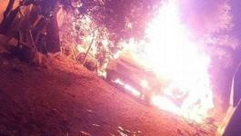 بالصور: الاحتلال يستهدف مركبة بالنصيرات والمقاومة ترد بوابل من الصواريخ