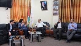 الضمير تزور مكتب مراقب وزارة الداخلية بغزة