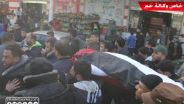 بالفيديو والصور: جماهير غزّة تُشيّع جثمان أول شهيدة في العام 2019