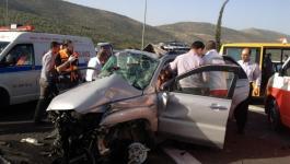 9 أشخاص لقوا مصرعهم الشهر الماضي في الضفة الغربية بسبب حوادث الطرق.jpg