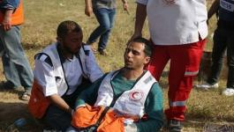 الهلال الأحمر  تستنكر استهداف طواقمها على حدود غزة