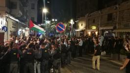 الجماهير الفلسطينية بمدن 48 تدعو للاضراب رفضا لقانون القومية