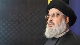 نصر الله: صواريخنا يصل مداها إلى كل الأراضي المحتلة وفي الحرب المقبلة سندخل الجليل
