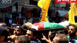 بالفيديو والصور: جماهير غفيرة تُشيّع جثمان الشهيد محمد بدوان بغزة