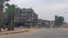 إزالة الركام والردم من شوارع مخيم اليرموك بدمشق