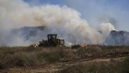 البالونات الحارقة تشعل النيران في مواقع قرب المجلس الإقليمي