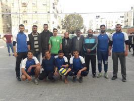 بالصور: انطلاق بطولة العودة لكرة الطائرة في خانيونس