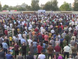 شعائر صلاة عيد الأضحى المبارك في غزّة