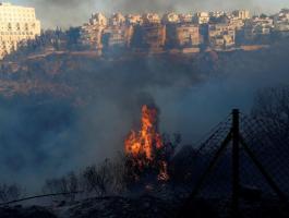 حريق قرب المستوطنات