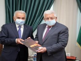 الرئيس عباس يتسلم التقرير السنوي للسلطة القضائية للعام الماضي