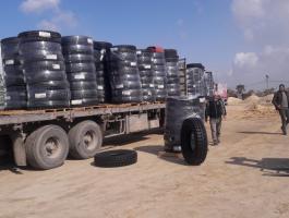 إدخال الكاوتشوك إلى غزة
